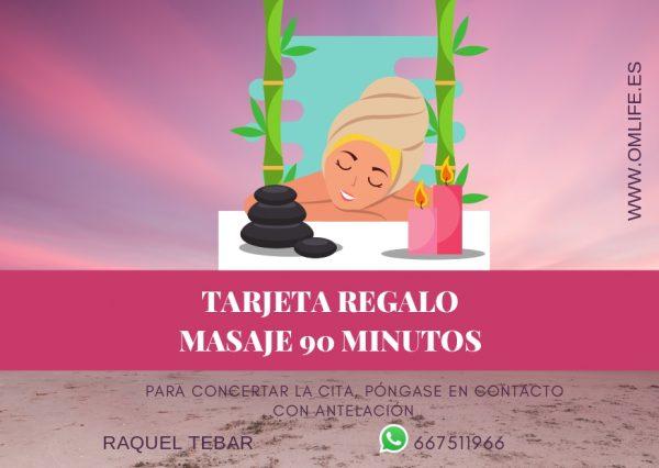 Tarjeta Regalo de Masajes Raquel Tebar